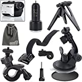 EEEKit Sports Kit for Midland XTC280VP/XTC200VP3/XTC300VP4/XTC350VP4/XTC450VP,Wrist Strap/Mini Tripod/Bike Handlebar/Car Windshield Mount,Car Charger