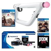 PlayStation VR FPS Deluxe Bundle (5 Items): PlayStation VR Skyrim Bundle, PSVR Doom VFR Game, PSVR Bravo Team Game, PSVR Farpoint Game and PSVR Aim Controller