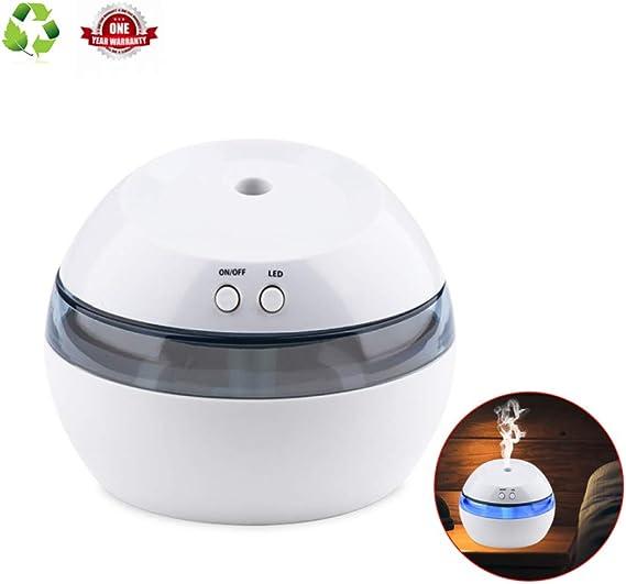 Humidificador Aromaterapia Ultrasónico purificador de Aire Difusor de Aromaterapia, Luz de Noche LED 3 Horas de Apagado automático Protección de Potencia temporizada de radiación Cero 290ml: Amazon.es: Hogar