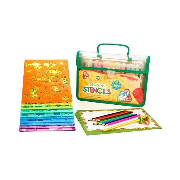 Stencil Set Creative Art /& Craft Child Kids Fun Games Educational Toys Stencils