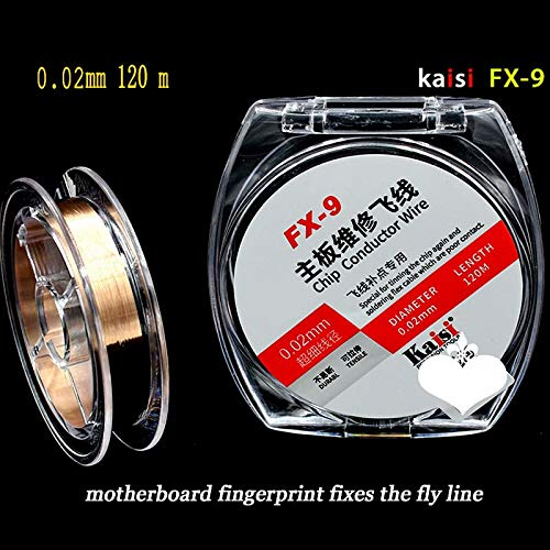 1 piece original 0.01mm / 0.02mm insulation Pure Copper Wire Fly Line for for Electronics Cellphone and Computer Logic Board Repair