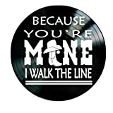 I Walk the Line song lyrics by Johnny Cash on a Vinyl Record Album Wall artwork