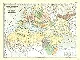 MAPS OF THE PAST International Map - Arabian Empire - Contambert 1880-30.40 x 23 - Matte Art Paper