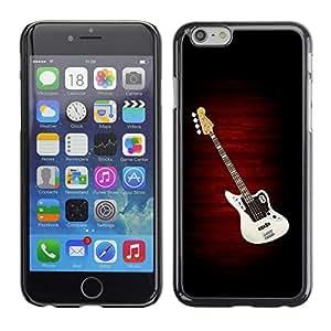 QCASE / Apple Iphone 6 / música de la guitarra del arte pop creación de la cultura de dibujo / Delgado Negro Plástico caso cubierta Shell Armor Funda Case Cover