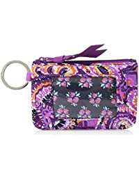 Women's Iconic Zip ID Case, Signature Cotton