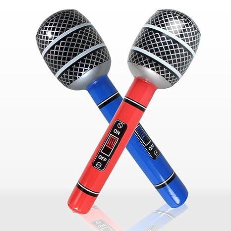 Micrófono hinchable 76,2 cm: Amazon.es: Instrumentos musicales