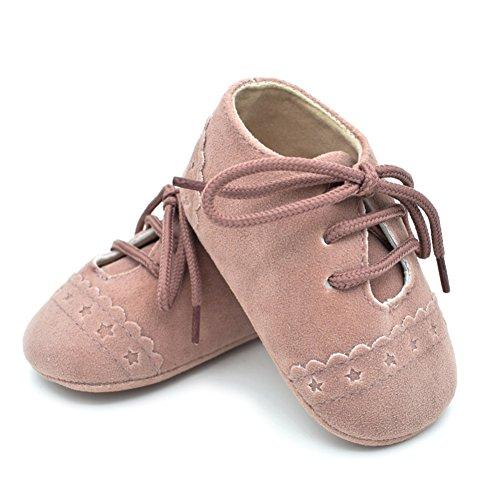 BOBORA Chicas Chicos Primer Caminar Zapatos De Bebe Talle PU Zapatos Con Cordones De Los Zapatos rosa