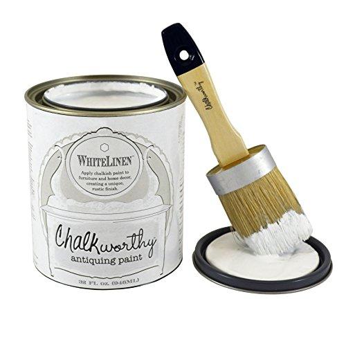 Giani Granite FG-CW Whtl Qrt Chalkworthy Antiquing Paint-White Linen Quart, 32 oz, Pure White