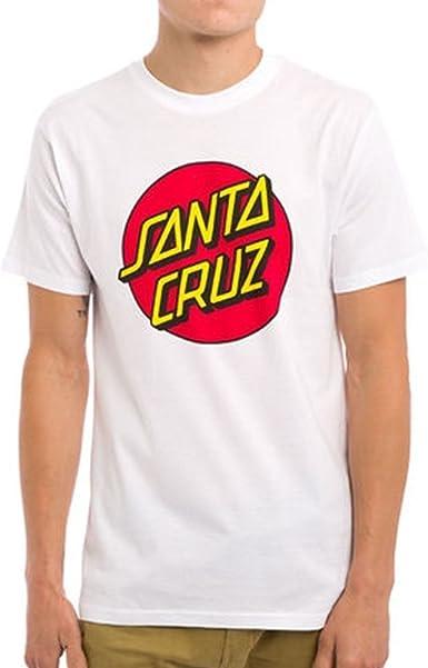 Santa Cruz Camiseta Classic Dot Blanco Talla: 152 a 164 cm Altura – de 12 a 14 años