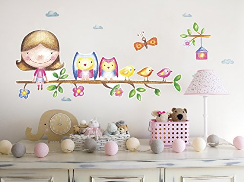 LindaWall Wall Decals for Girls Baby and Toddler Vinyl Tree