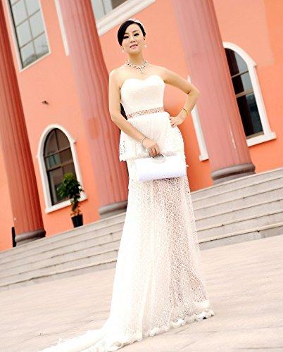 ulooie exquisito de la moda las mujeres noche bolso Rhinestone Decor hombro embrague bolsa