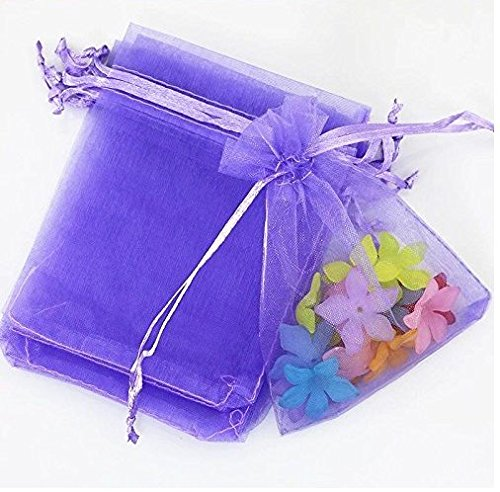 Astra Gourmet 50PCS Drawstring Organza Jewelry Favor Pouches Wedding Party Festival Gift Bags Candy Bags, 4