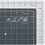 "ARTEZA Self Healing Rotary Cutting Mat, 12""x18"" with Grid & Non Slip Surface for Fabric, Paper, Vinyl, Plastic, Eco Friendly, Durable & Flexible, Great for Crafts, Quilting, Sewing, Scrapbooking"