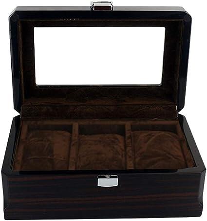 Holz Uhrenbox Uhrenkasten Uhrenkoffer Herren Damen Aufbewahrungsbox für 3 Uhren