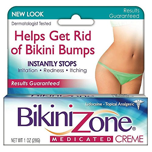 Bikini Zone Medicated Creme for Bikini Area 1 oz (Zone Bikini Gel Shaving)