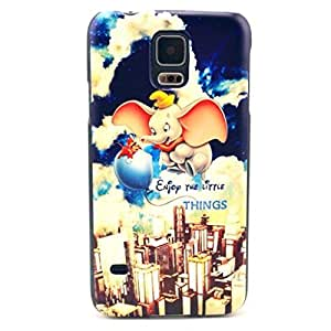 Case, Case,Gift_Source Funny Series Picture [Flying Elephant Design pattern] Hard Back Skin For Case Samsung Galaxy S5 Cover