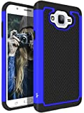 for Samsung Galaxy J7 (2015 Version) Case, LK [Shock Absorption] Drop Protection Hybrid Armor Defender Protective Case Cover (Blue)