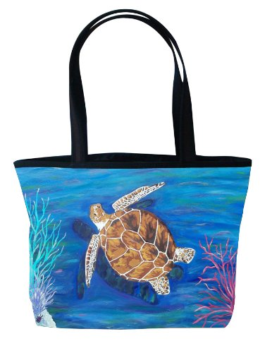 - Loggerhead Sea Turtle Shoulder Bag, Vegan Tote Bag - Animal Prints - From My Original Paintings - Support Wildlife Conservation, Read How (Loggerhead Sea Turtle - The Pilgrim)