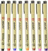 CALLIGRAPHER XSDK-BR-8 Set C/8 Pza De Color De Pigma Brush