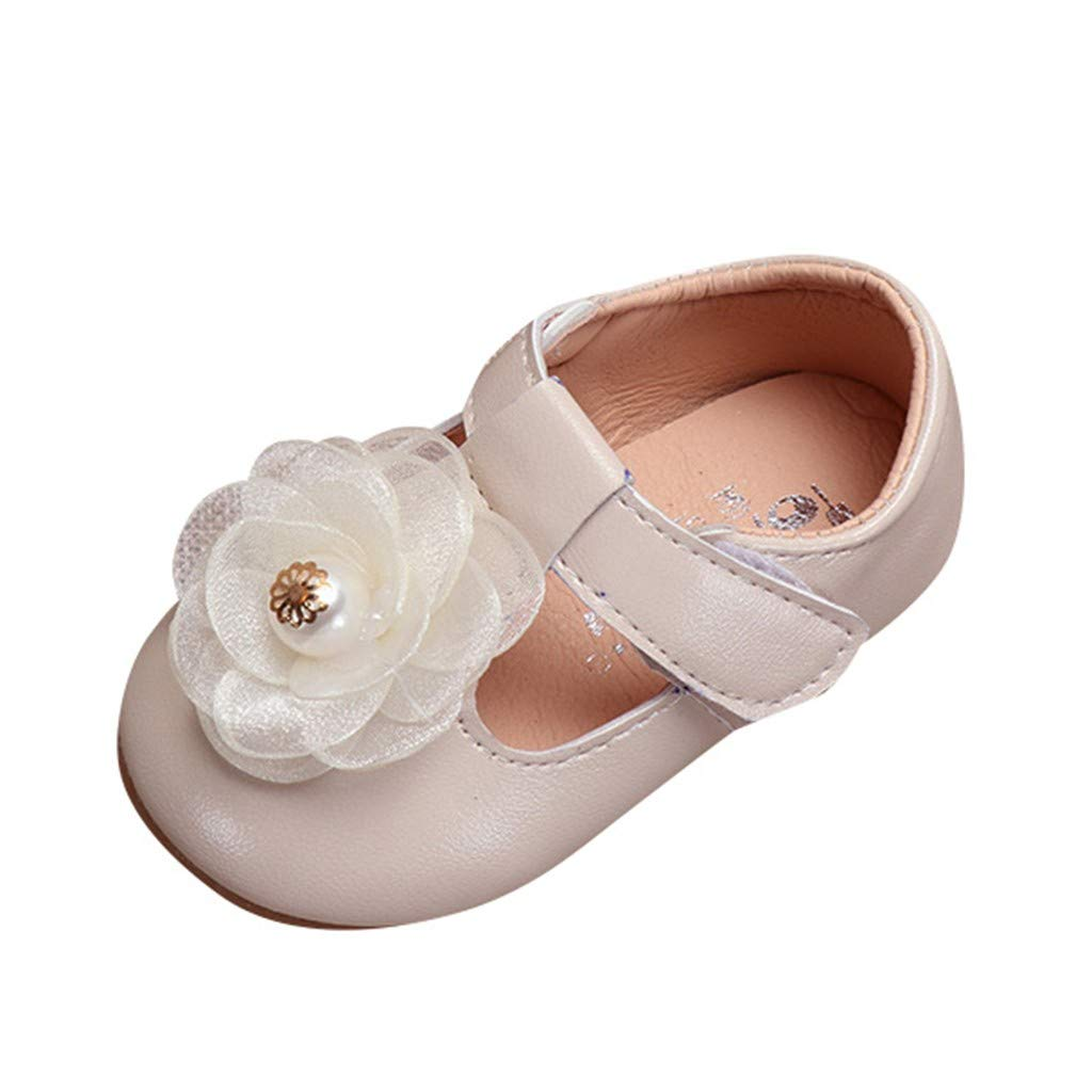 Voberry Infant Toddlers Baby Girls Soft Soled Bowknot Crib Shoes Girls Mary Jane Flat Shoes