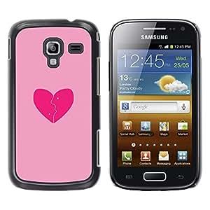 Be Good Phone Accessory // Dura Cáscara cubierta Protectora Caso Carcasa Funda de Protección para Samsung Galaxy Ace 2 I8160 Ace II X S7560M // Love Pink