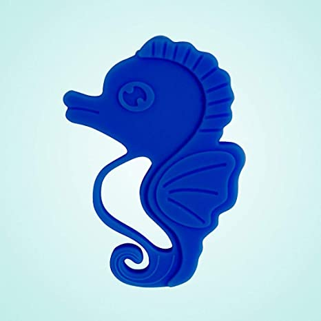 Baby Teether Toy Infant Teething Toys Cool Soft Chew Silicone Sea Horse Shape D