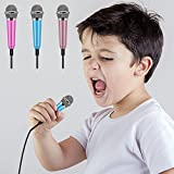 Kathy Universal Mini Microphone with Omnidirectional Stereo Mic for Voice Recording,Chatting and Singing on Apple Phone,Android (Blue)