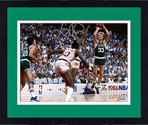 (Framed Larry Bird Boston Celtics Autographed 8