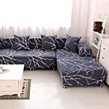 HYSENM 1/2/3/4 Seater Sofa Cover Home Décor Stretch Elastic Sofa Slipcover Couch Cover, Plum flower 4 seater 235-300cm