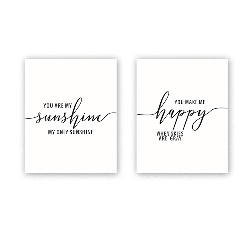 Inspirational Quote &Saying Art Print Song Lyrics Minimalist Canvas Art  Poster, Set of 2(8\