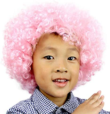 Curly Wig, Halloween Party Disco Circus Fancy Dress Up Party Costume Clown Wig Colorful
