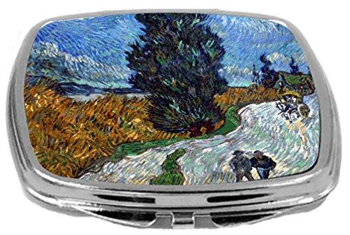 (Rikki Knight Compact Mirror, Van Gogh Art Van Gogh Country Road In)