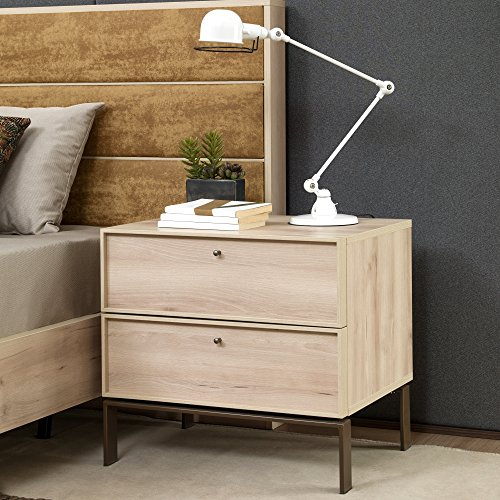 - Adam and Illy VAL0685 Valentin Nightstand, Iconic Oak