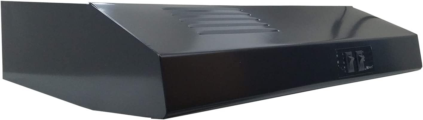 "22"" Black Ductless/Recirculating RV Range Hood (12 Volt DC)"