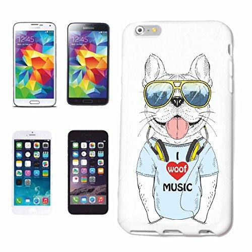 caja del teléfono iPhone 7 Amasado divertido con los auriculares y la cría de perros SOL CASA PERROS PERRERA DE CRIADORES DE PERRITO CUIDADO DE FORMACIÓN Caso duro de la cubierta Teléfono Cubiertas