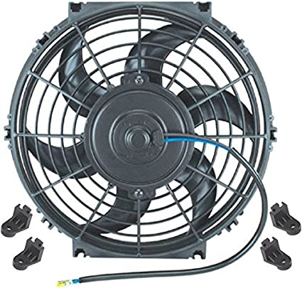 American Volt Reversible Electric Engine Fan 12V Radiator Condenser Cooler High Performance Motor Air Flow Power CFM 7 Inch