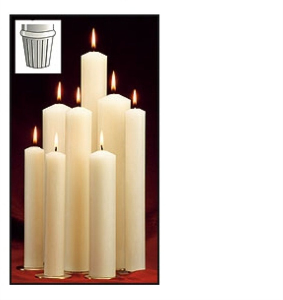 1 x 12 7/8 51% Paraffin Wax Candle Self Fitting End 51% Paraffin Wax 1 x 12 7/8 H
