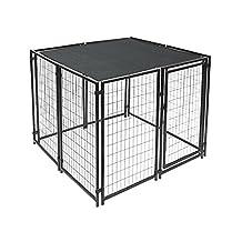 ALEKO® 5 x 10 Feet Dog Kennel Shade Cover w/ Aluminum Grommets, Black