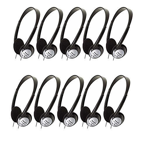 - Panasonic RP-HT21 Lightweight Headphones with XBS (10 Pack)