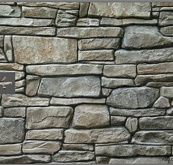 Patrón de sello, textura de pizarra piedra decoración de granito, hormigón cemento Imprint alfombrilla de diseño de textura PU estampado: Amazon.es: Jardín
