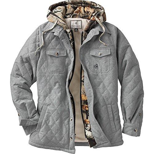 Legendary Whitetails Ladies Voyager Hooded Shirt Jacket Athletic Heather X-Large