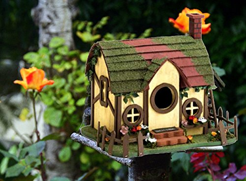 Hot Sale! Decorative Functional Unique Hanging Outdoor Quaint Cottage Bird House Condo Quaint Cottage