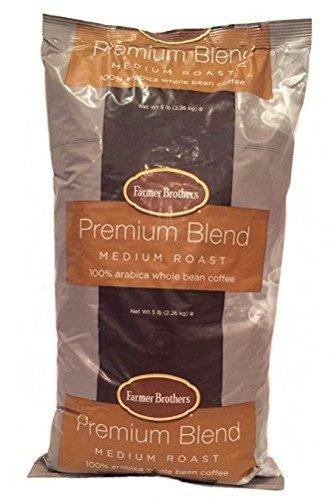 Farmer Brothers Coffee - Whole Bean Medium Roast 5 Lb Bag (Bulk 6 Pack) by Farmer Brothers