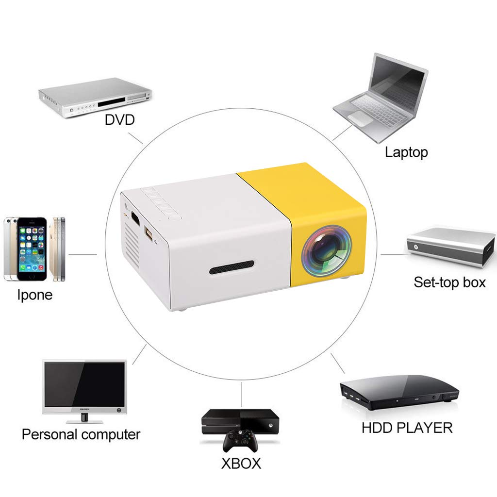 Amazon.com: ZUEN Mini LCD LED Projector 400-600LM 1080P ...
