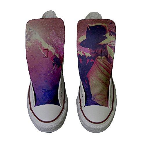 Scarpe Converse All Star Alte personalizzate (scarpe artigianali) Michael Jackson Style
