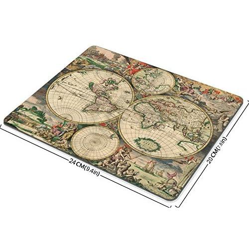 Decorative Mouse Pad Art Print Vintage World Map