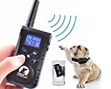 MOGOO-RemoteRainproof-Rechargeable-330yd-with-BeepVibrationShock-Electric-Dog-Training-Collar-For-SmallMediumLarge-PetDog