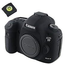 First2savv XJPT-5D3GJ-01G15 black Rubber Camera Case Bag full cover for Canon EOS 5D Mark III . 5D Mk3 . 5DS . 5DSR .5DR + gradienter
