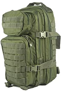 Mil-Tec Military Army Patrol Molle Assault Pack Tactical Combat Rucksack Backpack Bag 20L Olive Green