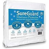 SureGuard Mattress Protectors Queen Size 100% Waterproof, Hypoallergenic - Premium Fitted Cotton Terry Cover - 10 Year Warranty